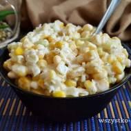 Sałatka z porem i kukurydzą