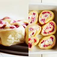 Ślimaczki z malinami i mascarpone (7 składników)