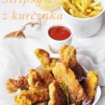 Kurczak w panierce kukurydzianej. Stripsy z kurczaka.