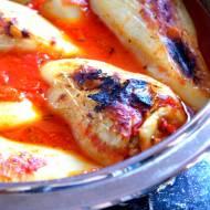 Papryka nadziewana kaszą gryczaną,oscypkiem, mięsem i cukinią