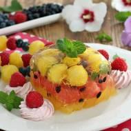 Przezroczysty deser arbuzowy