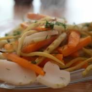 Warzywa przygotowane na dwa sposoby