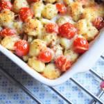 Zapiekanka z gnocchi, mięsem mielonym i warzywami