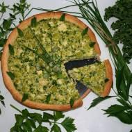 """Letnia tarta """"ZIELONO MI""""- zielony kalafior w masie z bobu i ziół"""