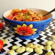 Sałatka z bobu z ziemniakami