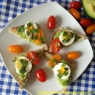 Tosty z guacamole i jajkiem