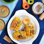 Kukurydza gotowana z ziołowym masełkiem