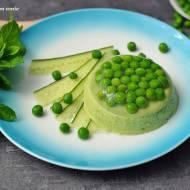 Galaretka z zielonego groszku z mięta