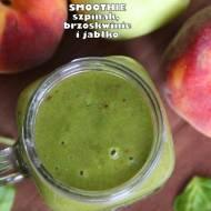 Smoothie szpinak, brzoskwinie i jabłko