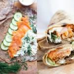 Żytnie tortille z wędzonym łososiem (6 składników)
