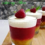 Deser z mango, malinami i chia wg Aleex