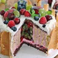 Tort wiśniowo owocowy