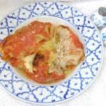 z przyprawą do makaronu gołąbki z włoskiej kapusty z piekarnika...