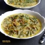 Zupa z kurkami i fasolką szparagową - wegeteriańska