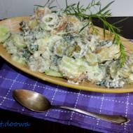 Sałatka grillowa z ogórków i ziemniaków