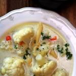 Zupa kalafiorowa z makaronem penne