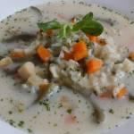 Zupa z fasolką szparagową i ryżem