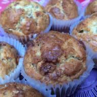 Puszyste muffinki bananowo - czekoladowe