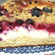 Szybkie ciasto drożdżowe z owocami i masą serową na oleju bez wyrastania
