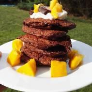 Owsiane placuszki czekoladowe z mango