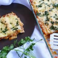 Włoska lazania (lasagne) z mięsem mielonym