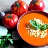 Zupa krem ze świeżych pomidorów z kuskusem i ziołami