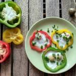 Jaja przepiórcze w kolorowej papryce