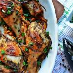 Pieczony kurczak w słodko-ostrej marynacie