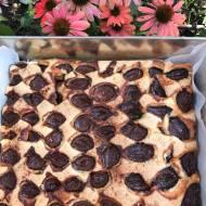 Ekspresowe ciasto śliwkowe z mąki orkiszowej i ziemniaczanej