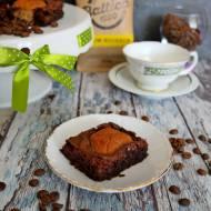 Kawowe brownie z orzechowymi ciasteczkami