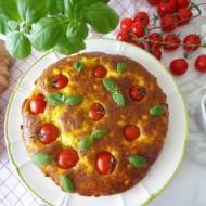 Pieczona frittata z fetą, pesto i pomidorkami (Frittata al forno con feta, pesto e pomodorini)