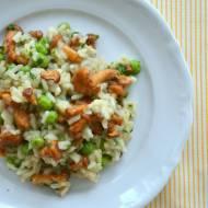 Risotto z kurkami i zielonym groszkiem