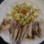 Wędzona makrela z ogórkową salsą
