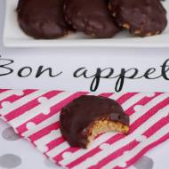 Bezglutenowe kruche ciastka z masłem orzechowym i czekoladą