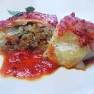GOŁĄBKI bez mięsa w gęstym sosie pomidorowym (wegańskie, bezglutenowe)