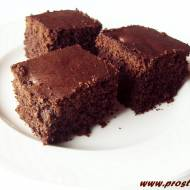 Ucierane ciasto  kakaowe z czekoladą  (bez glutenu)