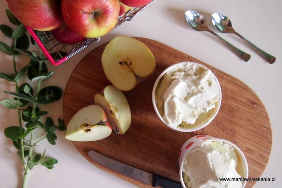Lody jabłkowe z miętą