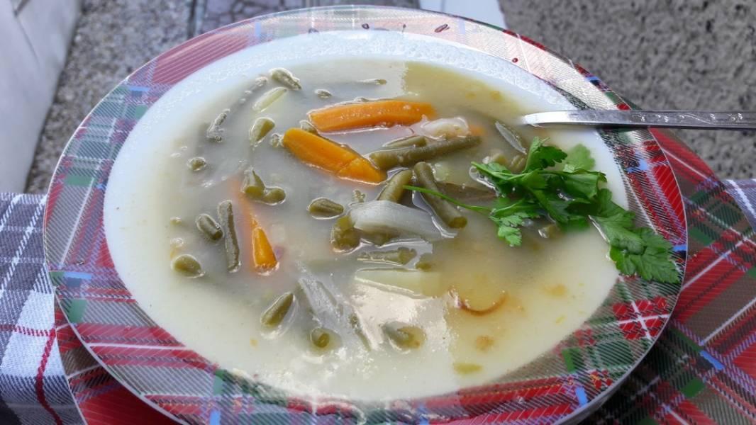 zupa z fasolki szparagowej -wegetariańska