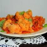 Kalafior po grecku - kalafior w warzywach
