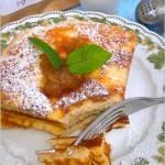 Szarlotkowy omlet z aromatyczną zieloną herbatą