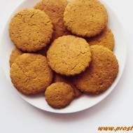 Kruche cytrynowe ciastka z melasą z morwy ( bez glutenu i masła )