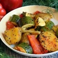 Pieczone warzywa z czarnuszką