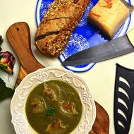 Zupa z liści kalafiora