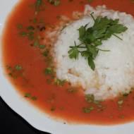 Zupa pomidorowa z świeżych pomidorów z ryżem