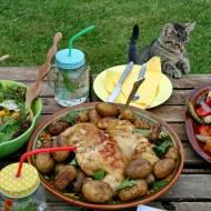 Grillowany kurczak curry i sałatki