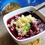 Letnia zupa czereśniowa z makaronem #lubelloveinspiracje #lubella #fetowanielata