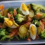 Sałatka z łososiem i brokułem – dietetyczne śniadanie do pudełka