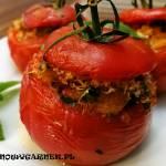 Wegetariańskie faszerowane pomidory