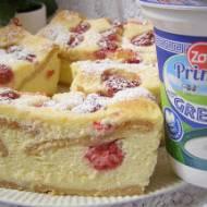 aksamitny malinowy sernik z jogurtów greckich...