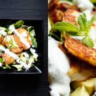 Sałatka z halloumi, daktylami i sosem miętowym (7 składników)